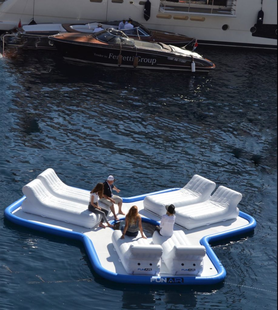 FunAir Floating Island at Monaco Yacht Show 2015