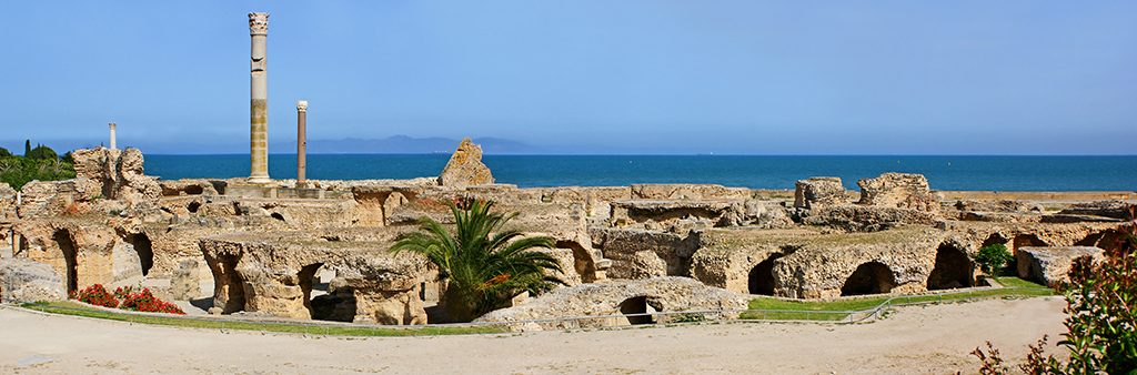 view of ruins at carthage, Tunisia