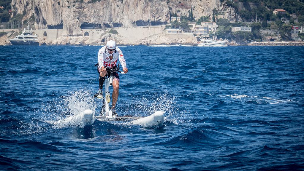 Schiller Water Bike racing in Monaco