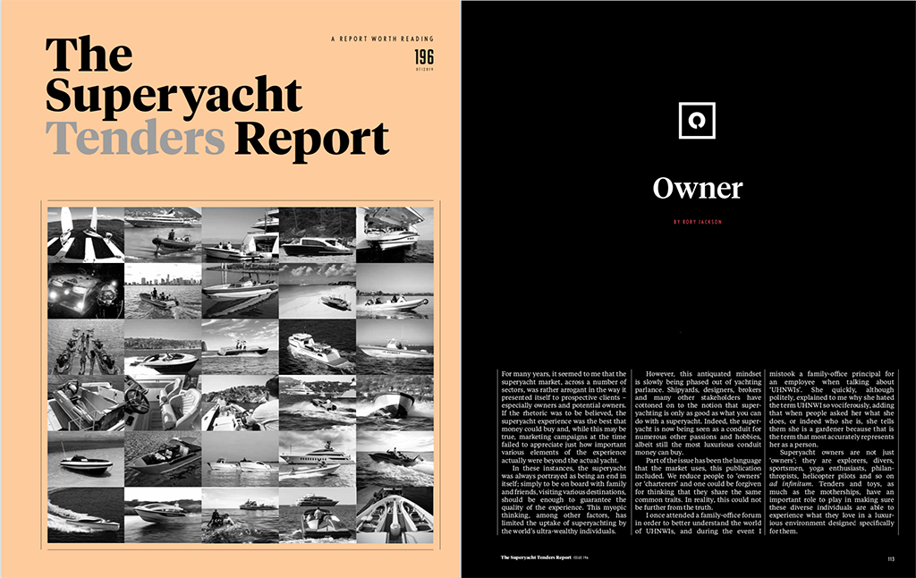 The Superyacht Report Magazine front cover