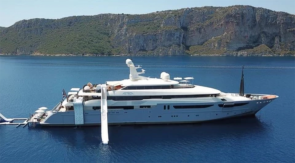 Image of superyacht with FunAir products