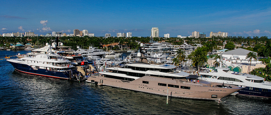 Image showing superyachts at FLIBS 2019