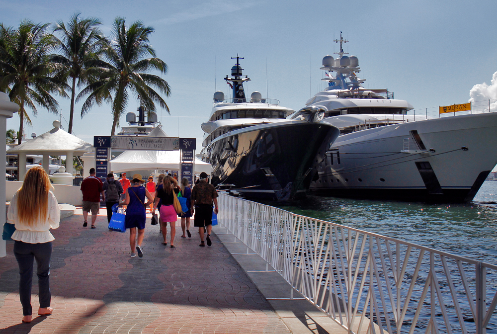 The Superyacht Village at Fort Lauderdale International Boat Show 2019